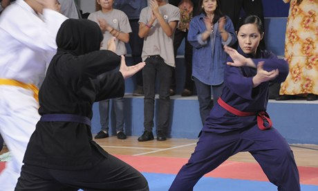 A scene from Yasmine, about a girl who wants to be a silat champion
